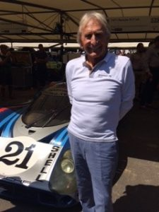 Derek Bell Goodwood Festival of Speed with the Porsche 917 Longtail