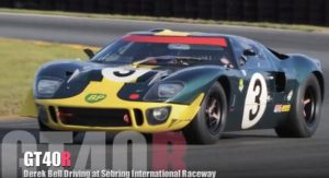 Ford GT40 Driven by Derek Bell at Sebring International Raceway (Onboard)